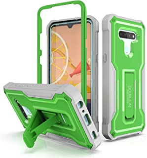 Double-N LG K51 Case, Durable Dual Layer Heavy Duty Case for LG K51 Phone, Designed with Kickstand (Green, LG K51 Case)