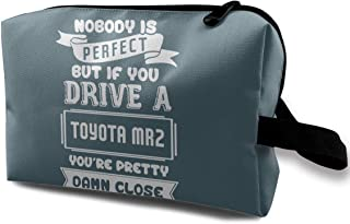 Nobody Is Perfect But If You Drive A Toyota MR2 Makeup Bag Travel Multifunction Clutch Pouch Bags Great Holder For Girls