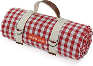 Good Gain Waterproof Picnic Blanket Portable with Carry Strap for Beach Mat or Family Outdoor Camping Party, Extra Large F...