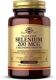 Solgar Yeast-free Selenium 100's Tablets, 200 Mcg