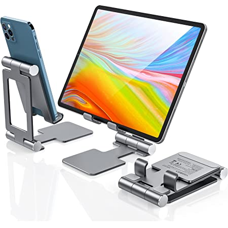 yoozon Supporto Tablet, Supporto iPad Tavolo per iPadPro 11/10.2/10.5/12.9/9.7, iPad Air 2/3/4, iPad Mini 2/3/4, Samsung Tab,Huawei,Kindle,Switch,Lenovo, iPhone 12/11/X/8, Xiaomi Redmi Note,Poco F3