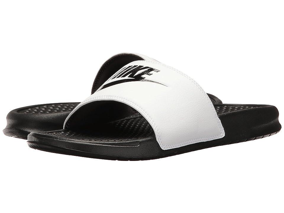 Nike Benassi JDI Slide (White/Black/Black) Men