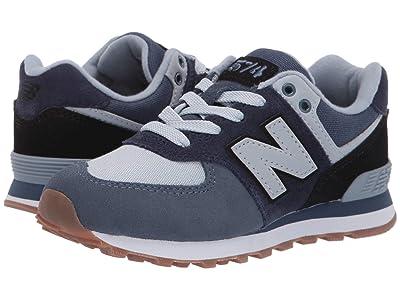 New Balance Kids PC574v1 (Little Kid) (Pigment/Black) Boys Shoes