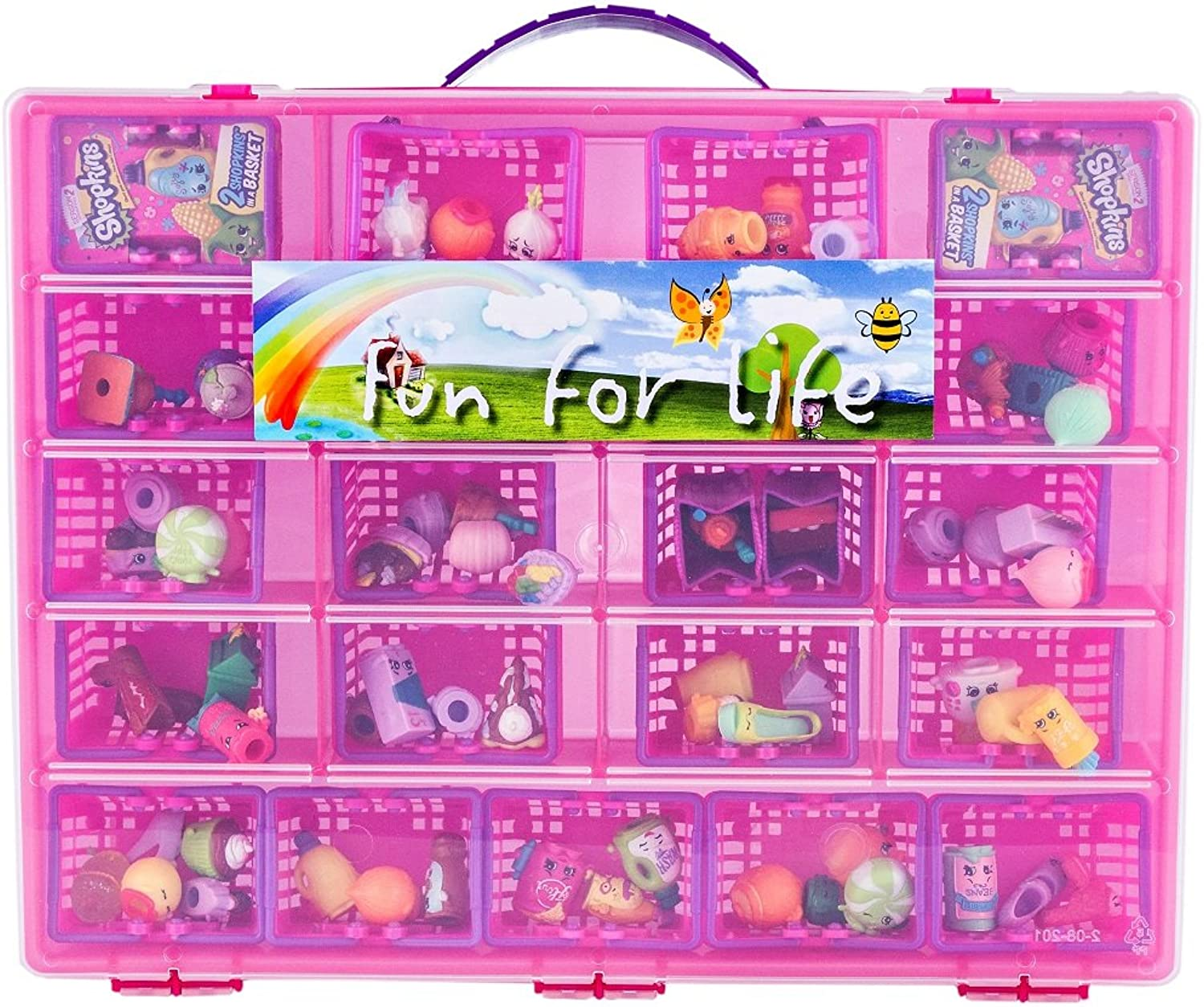Fun For Life Storage Case with Carrying Handle, Strawberry   Pink
