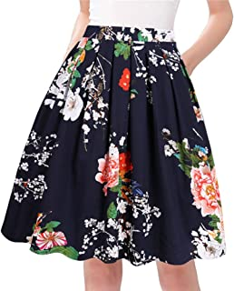 A-Line Pleated Vintage Skirts for Women
