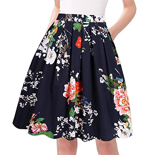 3922e3d1814 Taydey A-Line Pleated Vintage Skirts for Women