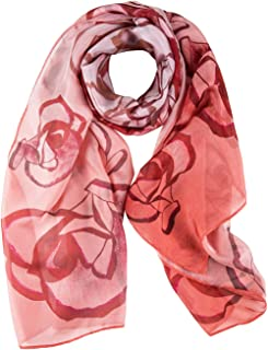 COLD POSH® Ladies Silk Scarves Floral Satin Neck Scarf Shawl Headscarf Elegant/Lightweight,Luxury Gifts,175 x 65 cm