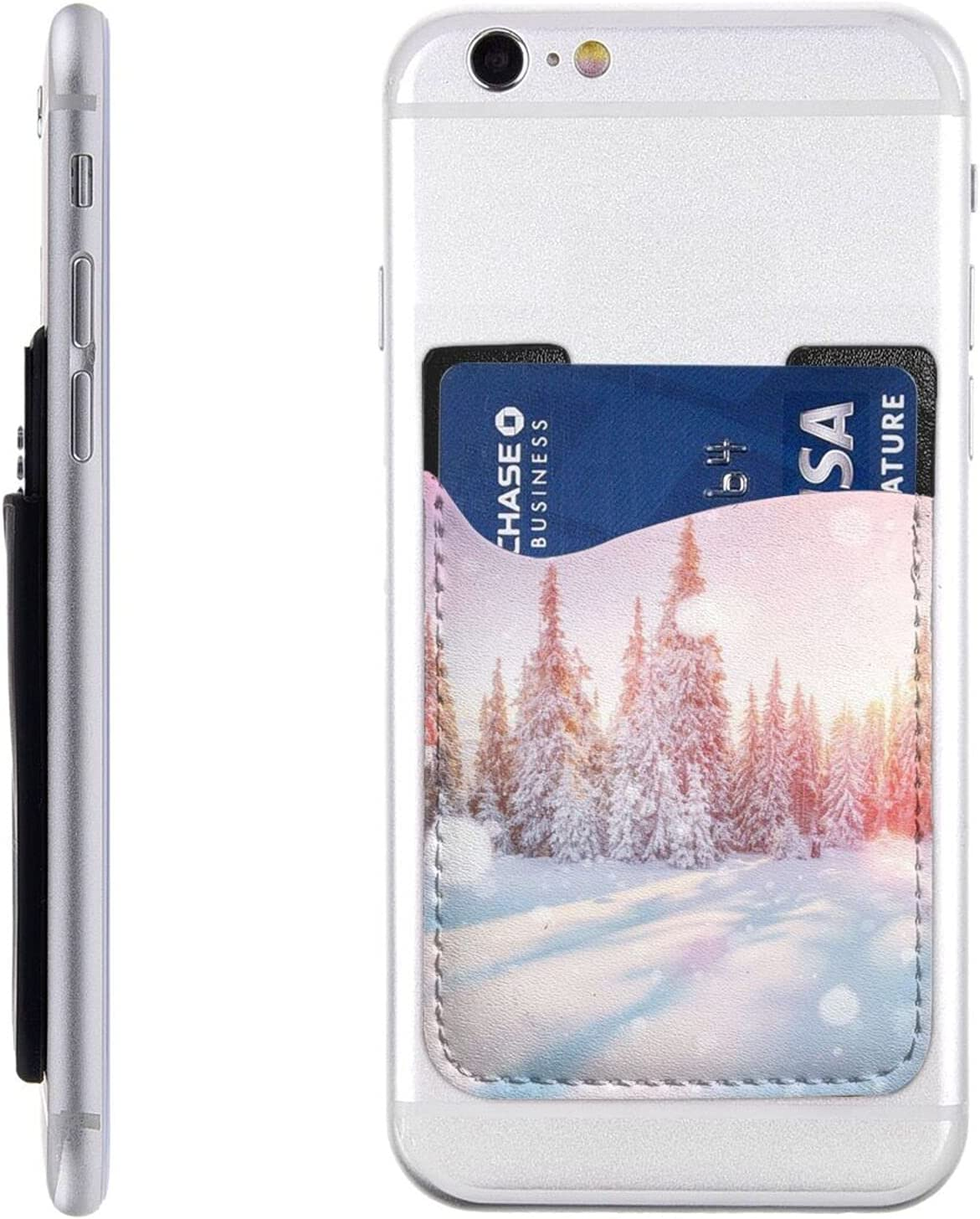 Pine Superlatite Credence Trees and Snow Phone Card Cell W Holder On Stick