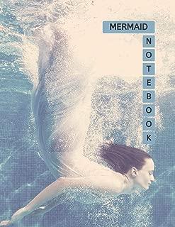 Mermaid Notebook: No.1 Blue Aegean Color Cover 8.5x11