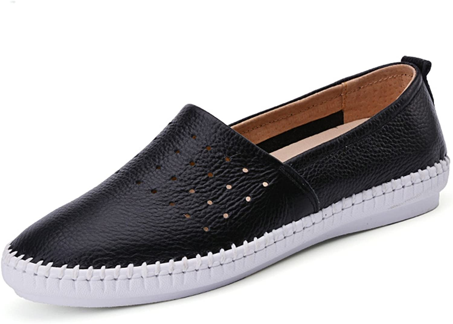 Dahanyi Stylish Women Genuine Leather shoes Slip On Flats Handmade shoes Loafers Mocassin Flat Women's shoes