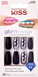 Kiss Glam Fantasy Ultimate Diamond 28 Nails KGFD04X Black Coffin