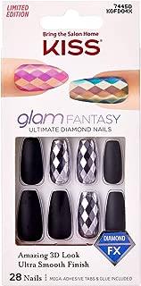 Kiss Glam Fantasy Ultimate Diamond 28 Nails KGFD04X Black Coffin