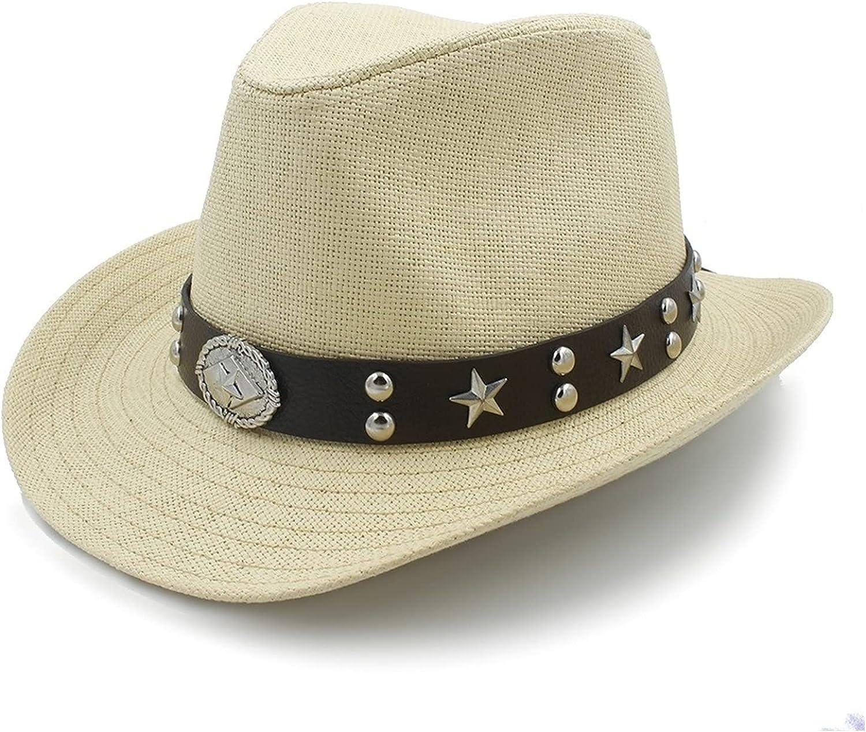 Women Excellence Philadelphia Mall Men Straw Western Cowboy Sun Beach Hat Cowgitl