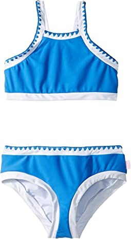 Seafolly Kids - Sapphire Coast Crochet Tankini Set (Little Kids/Big Kids)