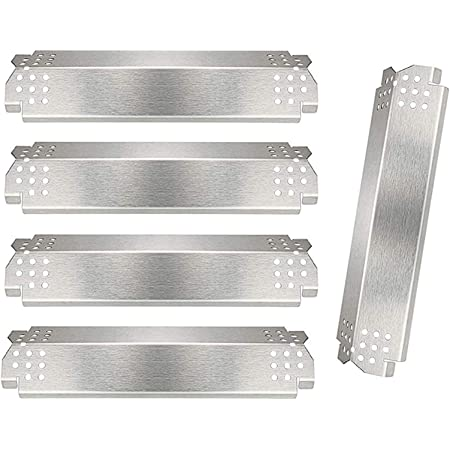 720-0864M Gas Grills Grill Replacement Parts for Nexgrill 720-0830H 4 Pack Grill Burners and Heat Plates Shield for Home Depot Nexgrill 4 Burner 720-0830H Nexgrill 720-0864