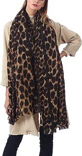 Womens Leopard Scarf Blanket Fashion Soft Long Pashmina Shawls Warps Warm Polka Dot Light Scarves
