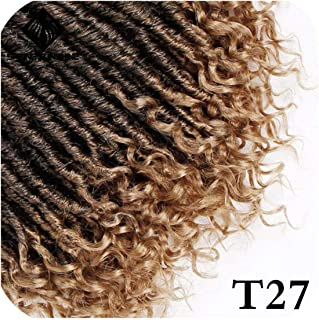 Goddess Faux Locs 16 20Inch Crochet Braids Soft Natural Soft Synthetic Hair Extension 24Strands 1Pc,T27,16 Inch,2Pcs