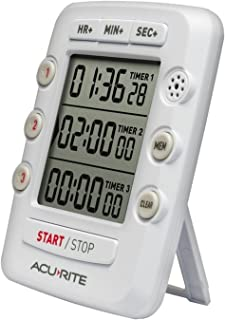 AcuRite Triple Event Digital Kitchen Timer with Jumbo Display 00482