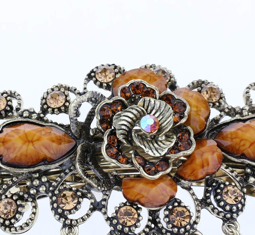 caf/é Pinza de Pelo Clip Horuqilla Floral Cristalino Vintage Regalo de Cumplea/ños Fiesta para Mujer