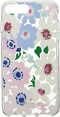 Jeweled Daisy Garden Clear Phone Case for iPhone 8 Plus