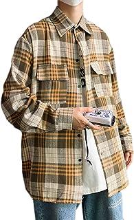 REHOODNメンズ シャツ トップス ワイシャツ トップス 開襟シャツ ゆったり シャツ シンプル オシャレシャツ