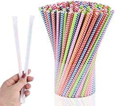 HiDear 250pcs Biodegradable Paper Straws Disposable Straws PA Free Bulk Drinking Suppliers Perfect for Parties/Bar/Beverag...