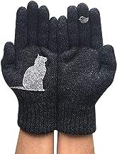 YTXTT Luvas femininas com estampa de gatos, luvas de lã, luvas acolchoadas para outono e inverno ao ar livre