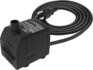 Submersible Water Pump Ultra Quiet with Dry Burning Protection160GPH for Fountains, Hydroponics, Ponds, Aquariums & More …