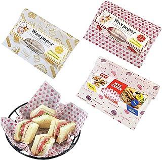 BESLIME 150Pcs Papel para Envolver Alimentos, Papel Antigrasa Alimentos, para Bocadillo, Hamburguesas, Pasteles de Pizza, ...