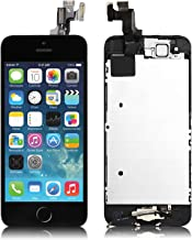 For iPhone 5s Screen Replacement Black - 4.0