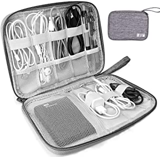 Universal Electronics Accessories Organizer, Waterproof Portable Cable Organizer Bag,Travel Gear Carry Bag for Cables