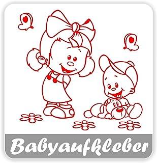 Babyaufkleber, Geschwisteraufkleber für Auto mit Wunschtext (GS 17)