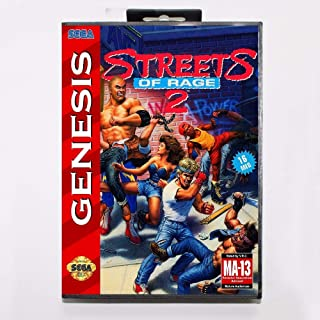 Street Of Rage 2 16 Bit Md Game Card With Retail Box For Sega Mega Drive