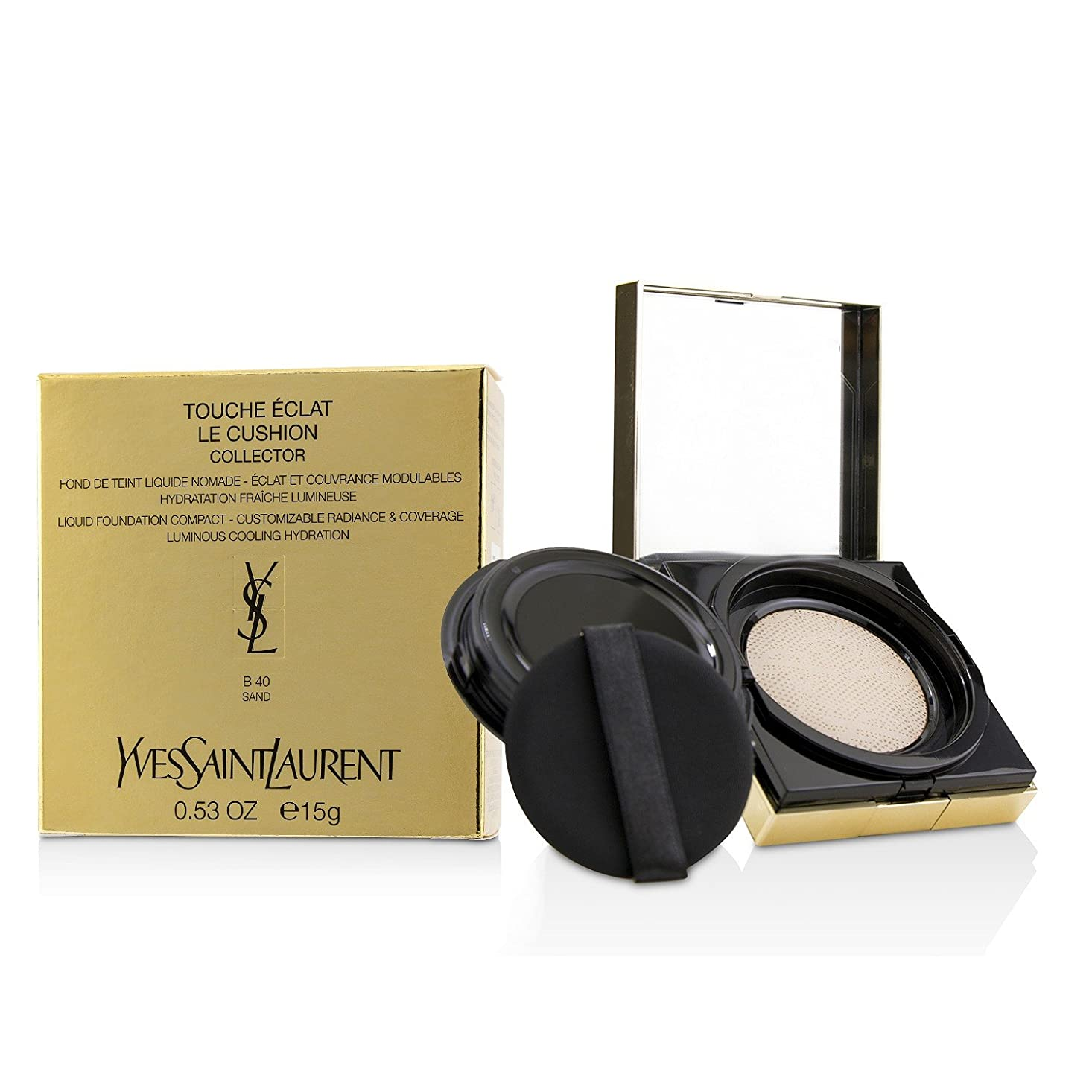 カニフィールド避難するイヴサンローラン Touche Eclat Le Cushion Liquid Foundation Compact - #B40 Sand (Collector) 15g/0.53oz並行輸入品