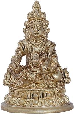 Ratnatraya Kuber Brass for Wealth Decorative Statue