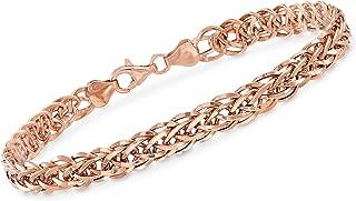 Ross-Simons 18kt Rose Gold Wheat-Link Bracelet