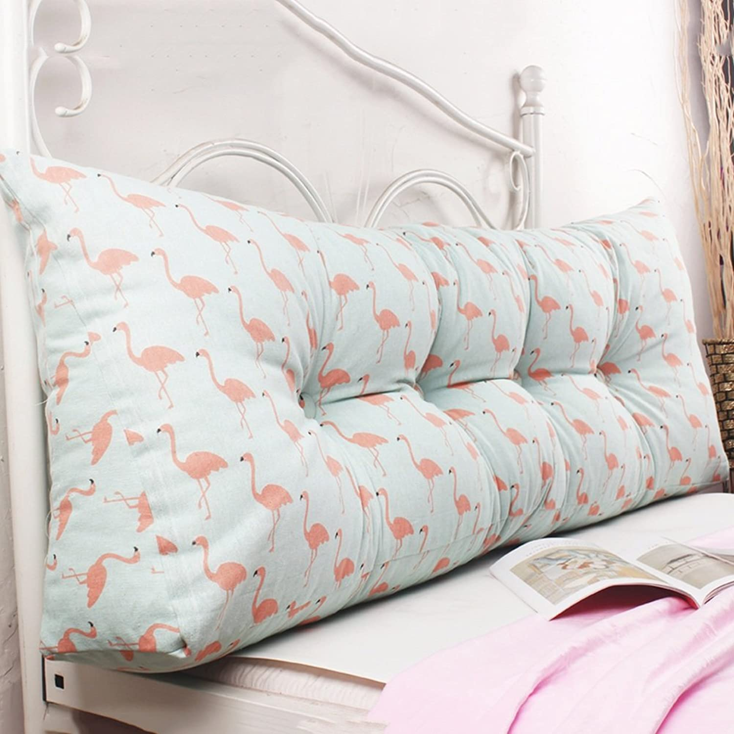 WENZHE Upholstered Fabric Headboard Bedside Cushion Pads Floral Princess Triangular Soft Case Bedroom Sofa Large Back Washable Country Style, 7 colors, 7 Sizes (color   6 , Size   100×45×20cm)