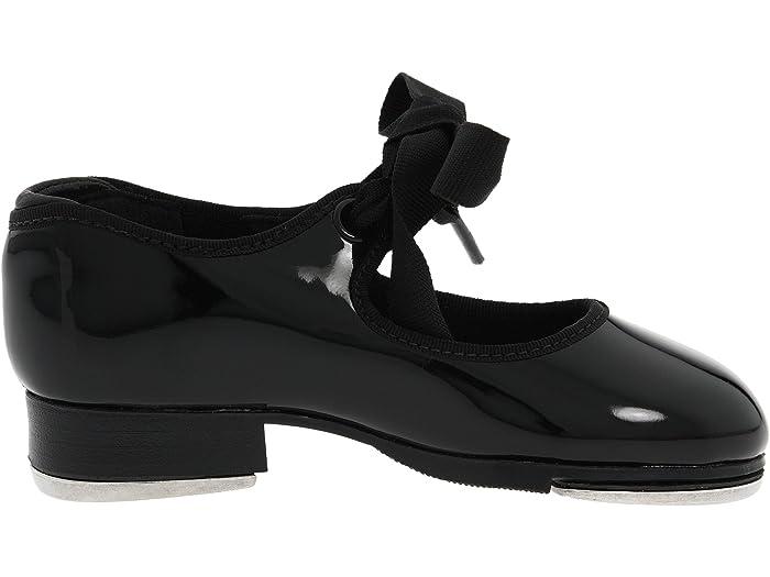 CAPEZIO TAP SHOES BLACK  PATENT JR TYETTE CHILD SIZES  Style# N625C ribbon tie