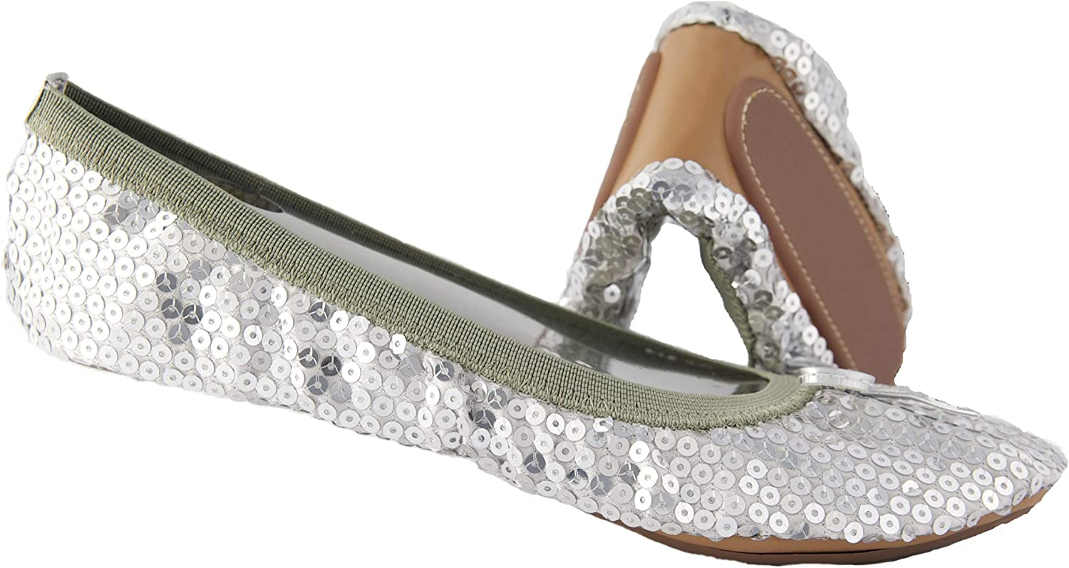 Sequin Foldable Portable Max 54% OFF Flats That fold fit a Bag in and New Free Shipping