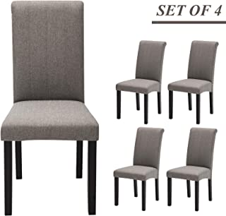 Best silver upholstered dining chairs Reviews