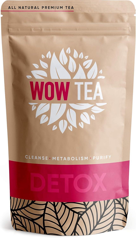 WOW TEA Detox - Programa de Purificación Corporal Profunda de 21 Días | Desintoxicación de Cuerpo Completo | Té de Desintoxicación de Hierbas con Yerba-Mate, Té Verde, Pu-erh | 150 gr, Made in EU