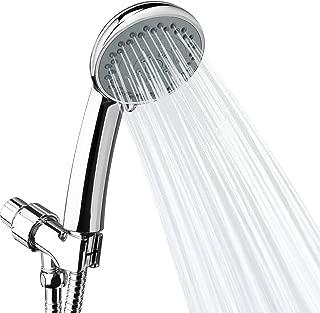 High Pressure Shower Head, UBEGOOD 5 Spray Settings Professional Hand Held Shower Head with 60 Inch Hose, Adjustable Bracket, Easy to install, Chrome