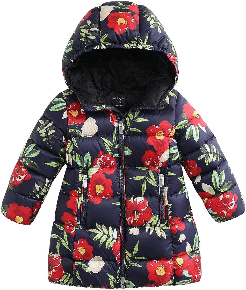 marc janie Girls' Long Light Weight Down Jacket Packable Hooded Down Puffer Coat