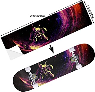 STREET FFX Skateboard Cruiser Deck and Balance Board Stickers Decals - 9.5 x 33.5 Inches