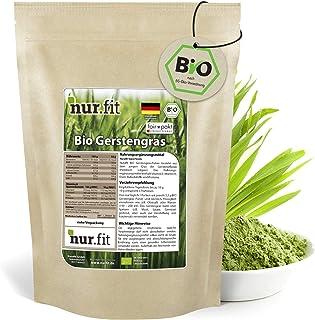 nur.fit by Nurafit BIO Gerstengras Pulver 500g – rein natürliches Pulver aus..