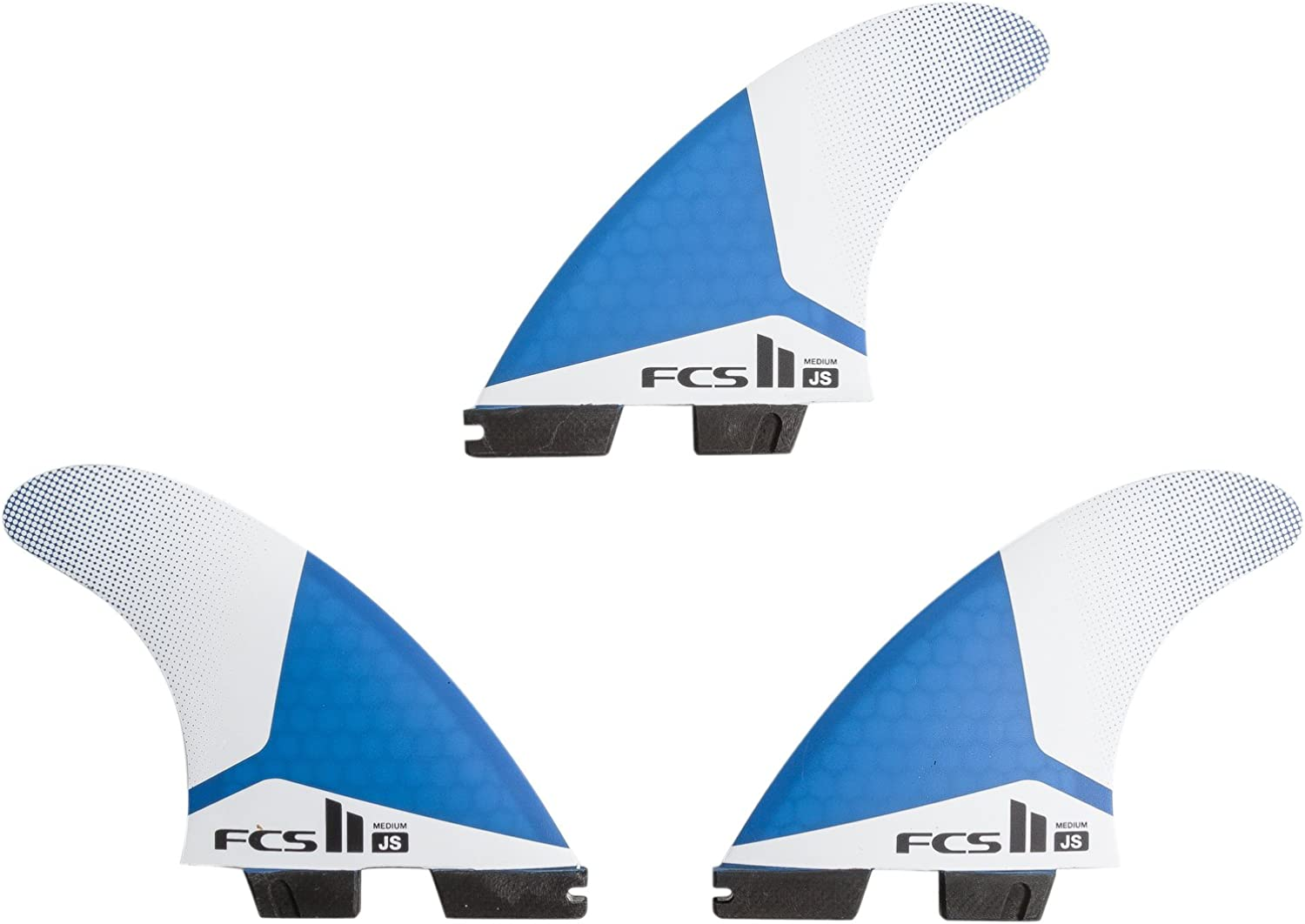 New Fcs Surf Ii Js Pc Tri Fin Set Black