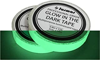 Glow in the Dark Tape, Pack of 2 Rolls of Glow Tape 32 ft x 0.8 inch, for Stairs, Steps, Stage, Home Decor Wall, Safety, Markers, Party Halloween Decoration