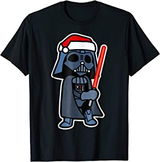 Darth Vader Saber Santa Hat Christmas T-Shirt