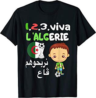 Algeria Flag Football Jersey soccer Africa Cup CAN 2019 T-Shirt