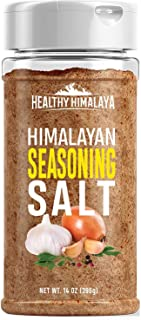 Healthy Himalaya Seasoning Salt - All-Natural Himalayan Salt Blend for Meats, Vegetables, Pretty Much Anything - 14 Ounces